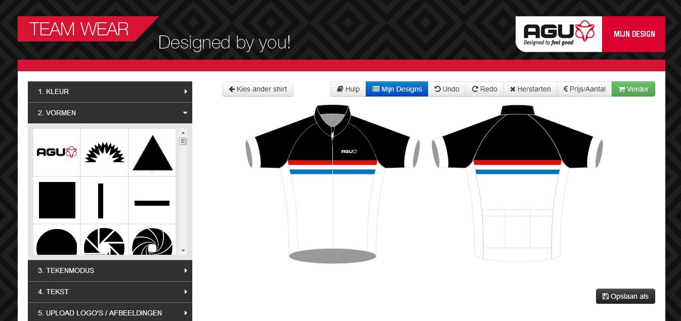 Tassen Ontwerpen Programma : Zelf shirt ontwerpen bij agu fiets race en mtb website