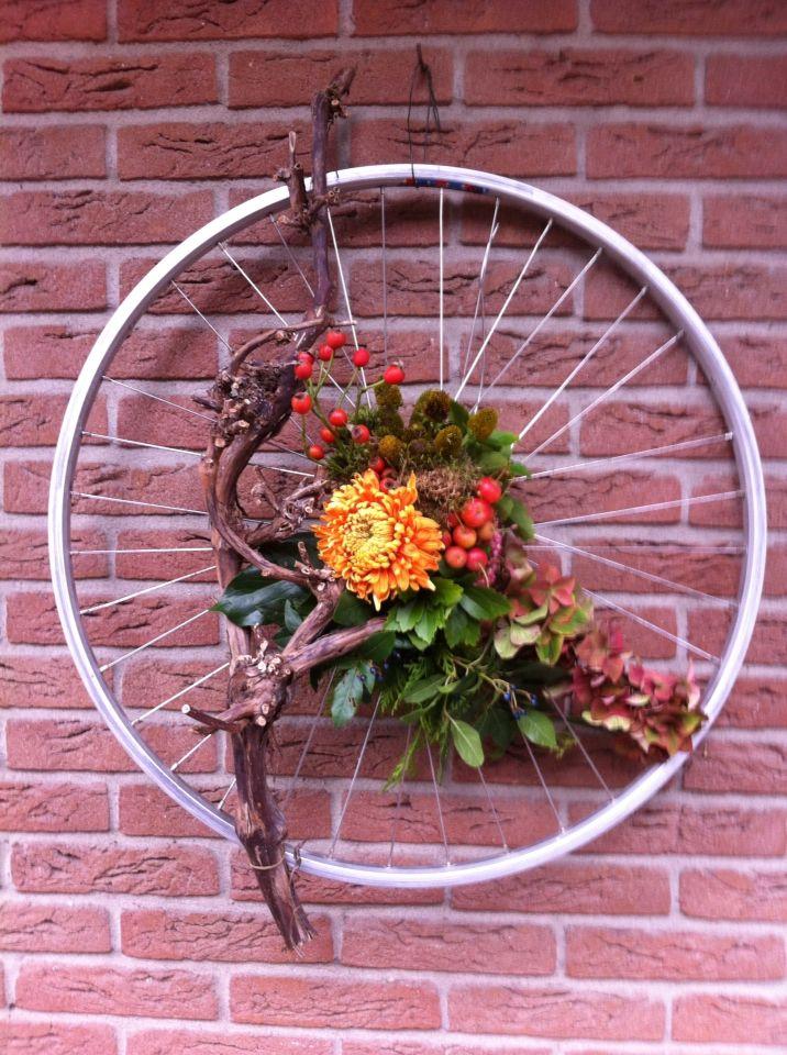 fietswiel decoratie