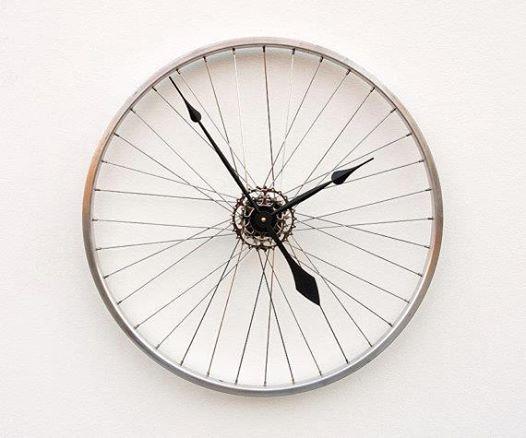 fietswiel klok