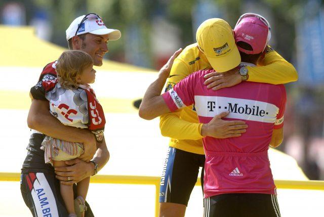 Ivan Basso, Lance Armstrong en Jan Ullrich