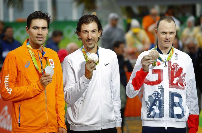 Podium Olympische Spelen 2016 tijdrit