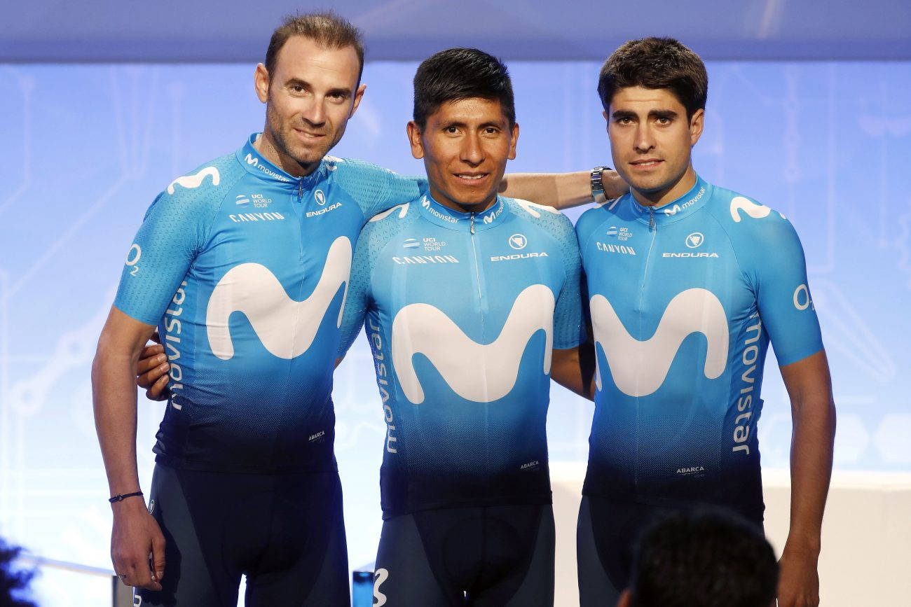 Alejandro Valverde, Nairo Quintana en Mikel Landa 2018
