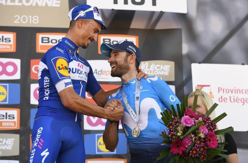 Julian Alaphilippe en Alejandro Valverde 2018