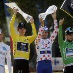 Tour de France podium 2018