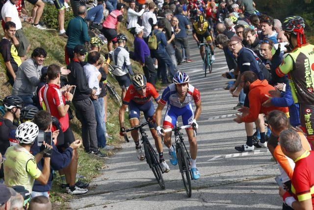 Vincenzo Nibali en Thibaut Pinot 2018