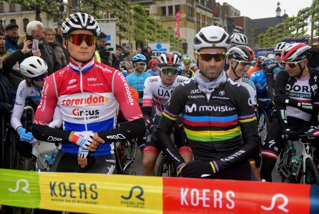 Mathieu van der Poel en Alejandro Valverde 2019