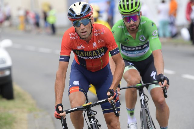 Vincenzo nIbali en Peter Sagan 2019