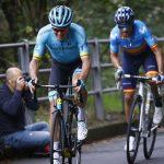 Jakob Fuglsang en Alejandro Valverde 2019