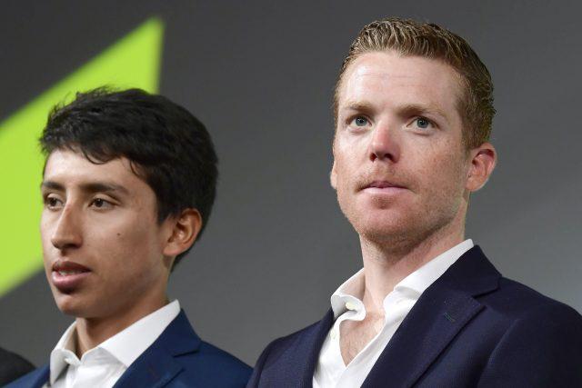 Egan Bernal en Steven Kruijswijk 2019