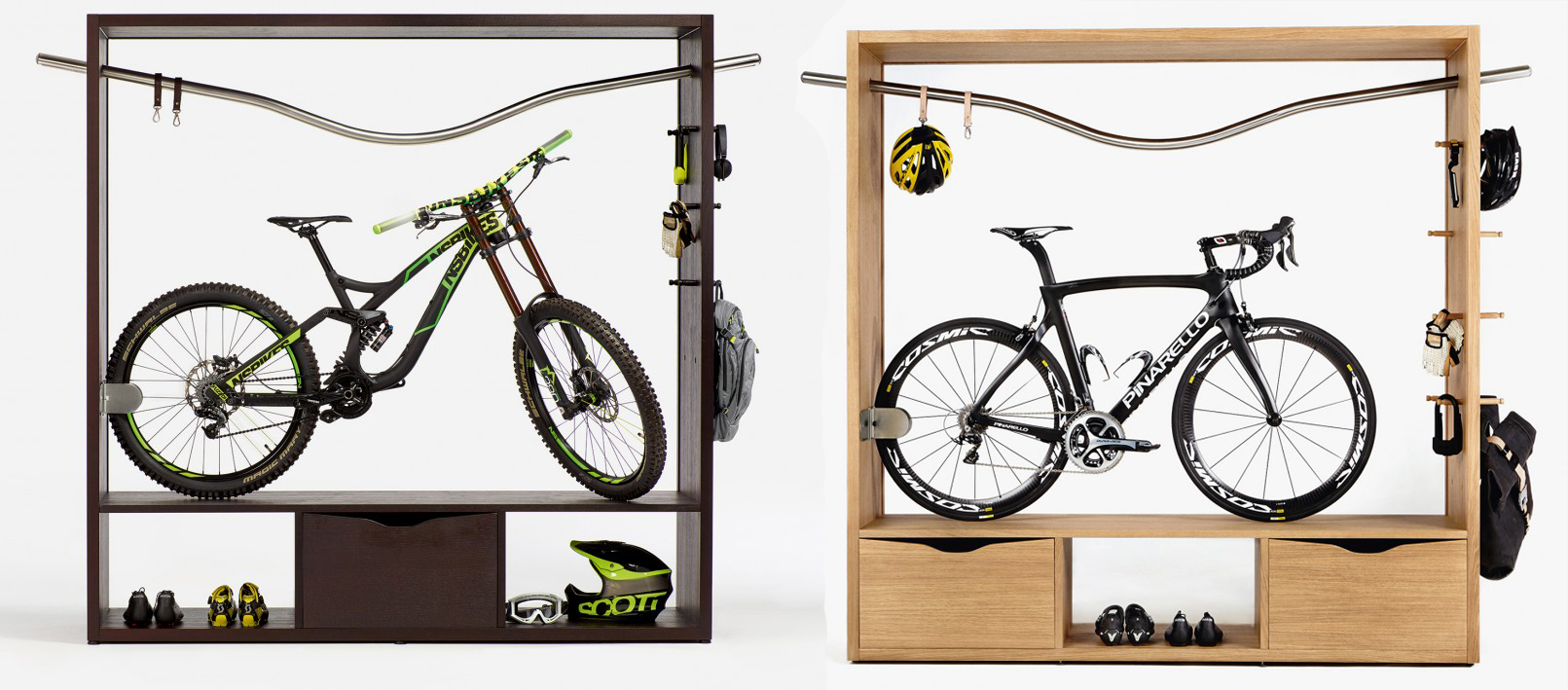bd68d92e661 Inmiddels hebben ze diverse producten, waarmee je jouw fiets letterlijk op  een voetstuk plaatst. En één meubelstuk springt daar toch wel echt  tussenuit: de ...