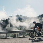 Cyclist on Col de la Colombière
