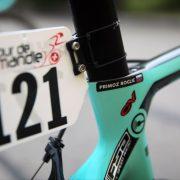 Yverdon-les-Bains - Swiss - wielrennen - cycling - cyclisme - radsport - illustration - sfeer - illustratie name sticker on bike and helmet  pictured during the 72nd Tour de Romandie (2.UWT) stage 2 from Delémont to Yverdon-les-Bains (173.9 (KM) - photo René Vigneron/Cor Vos © 2018