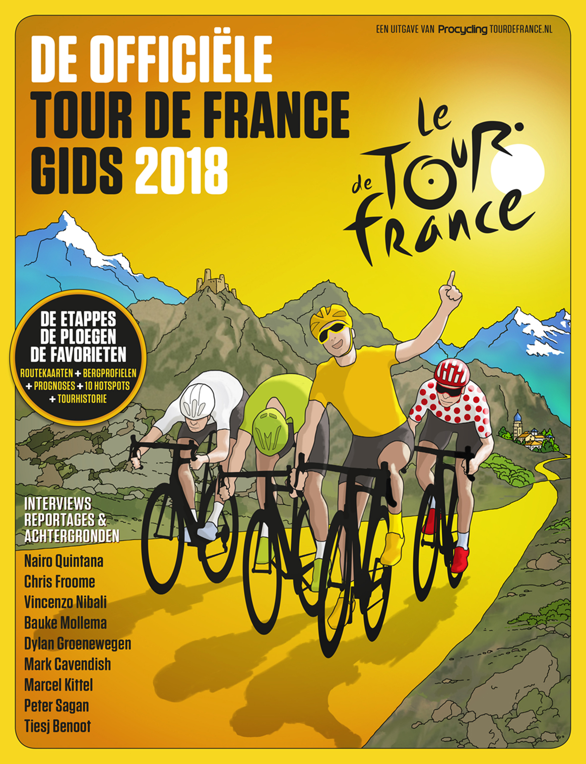 procycling editie 4 de offici le tour de france gids 2018. Black Bedroom Furniture Sets. Home Design Ideas