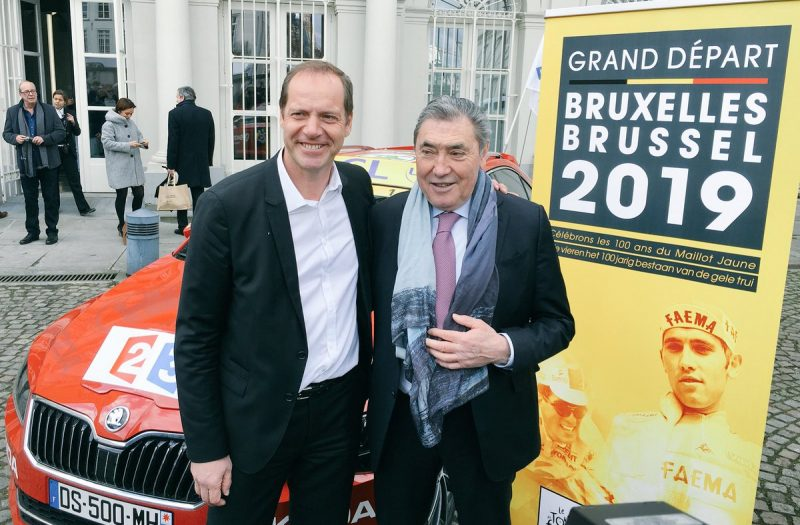 Christian Prudhomme en Eddy Merckx 2018, Tour de France 2019